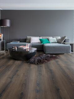 Desert Oak Brushed Dark Brown Laminate Flooring - Majestic Laminate Floor Range